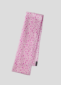 long pink polka dot scarf