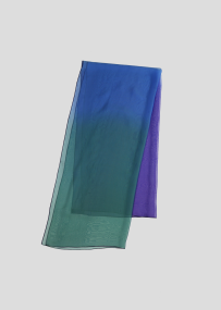 ombre scarf bluegreen