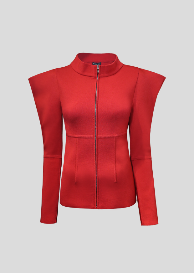 TV263 Narcisse Jacket - Cardinal Red